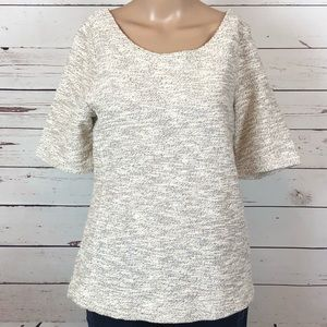 Banana Republic Short Sleeve Top Zip Up Medium